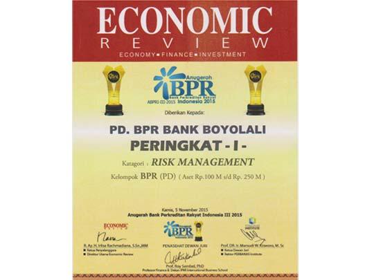 Anugerah BPR 2015 - Risk Managemen